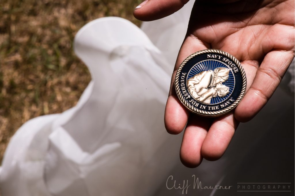 United States Navy Spouse medallion.